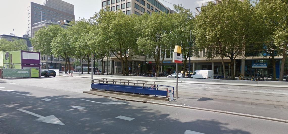 Geen metro's tussen Rotterdam Centraal en Beurs