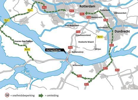 Omleiding Haringvlietbrug